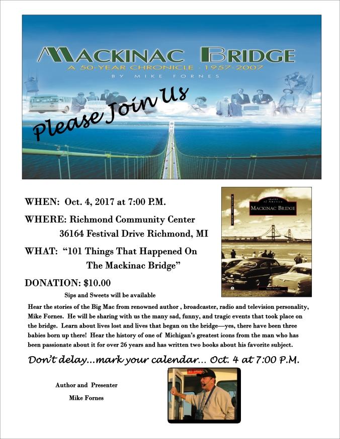 101 things Mackinac Bridge Historian