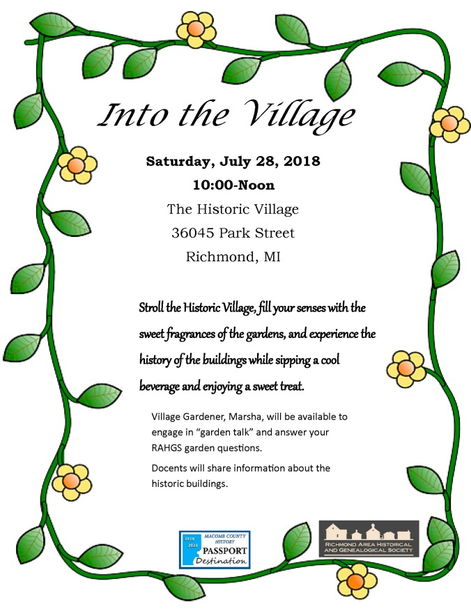 Into the Village 2018 flyer