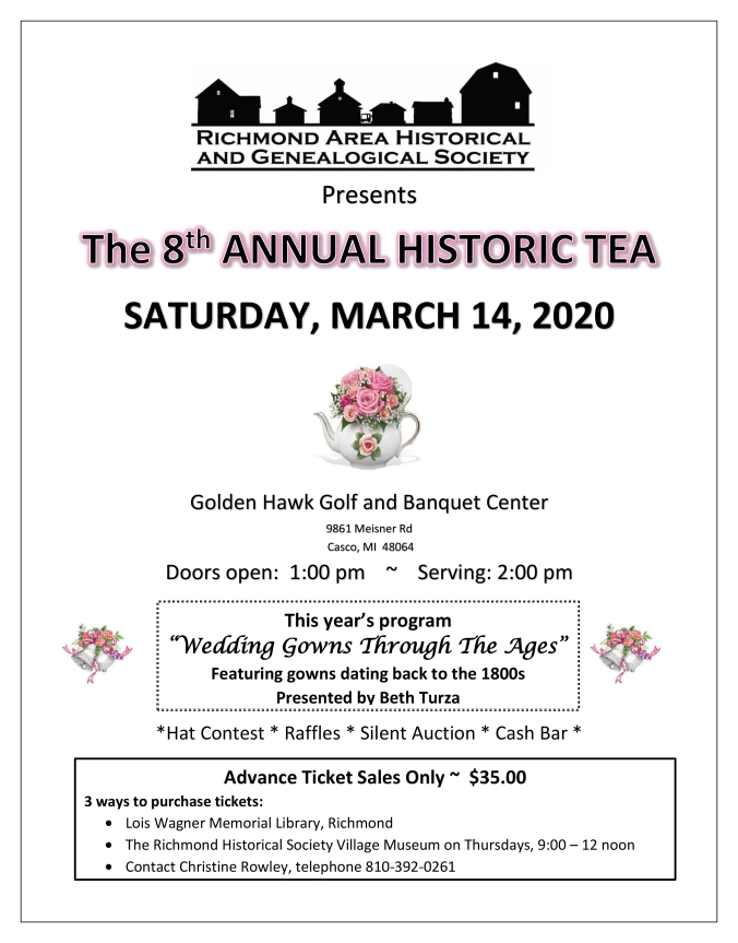 2020 RAHGS Historic Tea Flyer